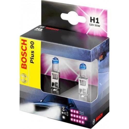 Лампа Bosch H1+90 2 шт 1987301073 kalen mas car headlight auto lamp h1 h4 h7 h11 h13 9004 9005 9007automobile headlamp fog light ip68 60w 6500k super bright