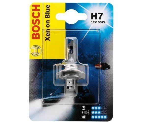 Лампа Bosch H7 Xenon Blue 55Вт 1987301013 full metal mini h4 h7 projector 2 5 inches leader hid bixenon projector lens rhd lhd with gun shrouds for auto headlight