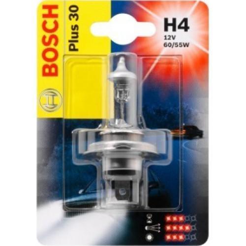 Лампа Bosch Plus 30 H4 12V 1987301002 kalen mas car headlight auto lamp h1 h4 h7 h11 h13 9004 9005 9007automobile headlamp fog light ip68 60w 6500k super bright
