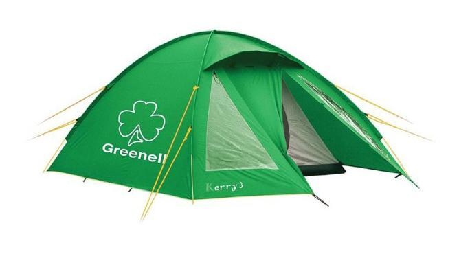 GREENELL Палатка Керри 4 V3, цвет: зеленый. Арт.95513 палатка greenell виржиния 6 плюс green