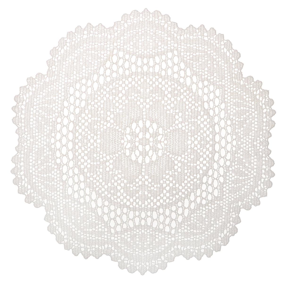 """Набор декоративных салфеток """"Ажурные"""", 6 шт, диаметр 30 см. 811-124"""