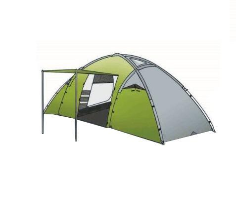 Палатка INDIANA DERNA 4, цвет: зеленый