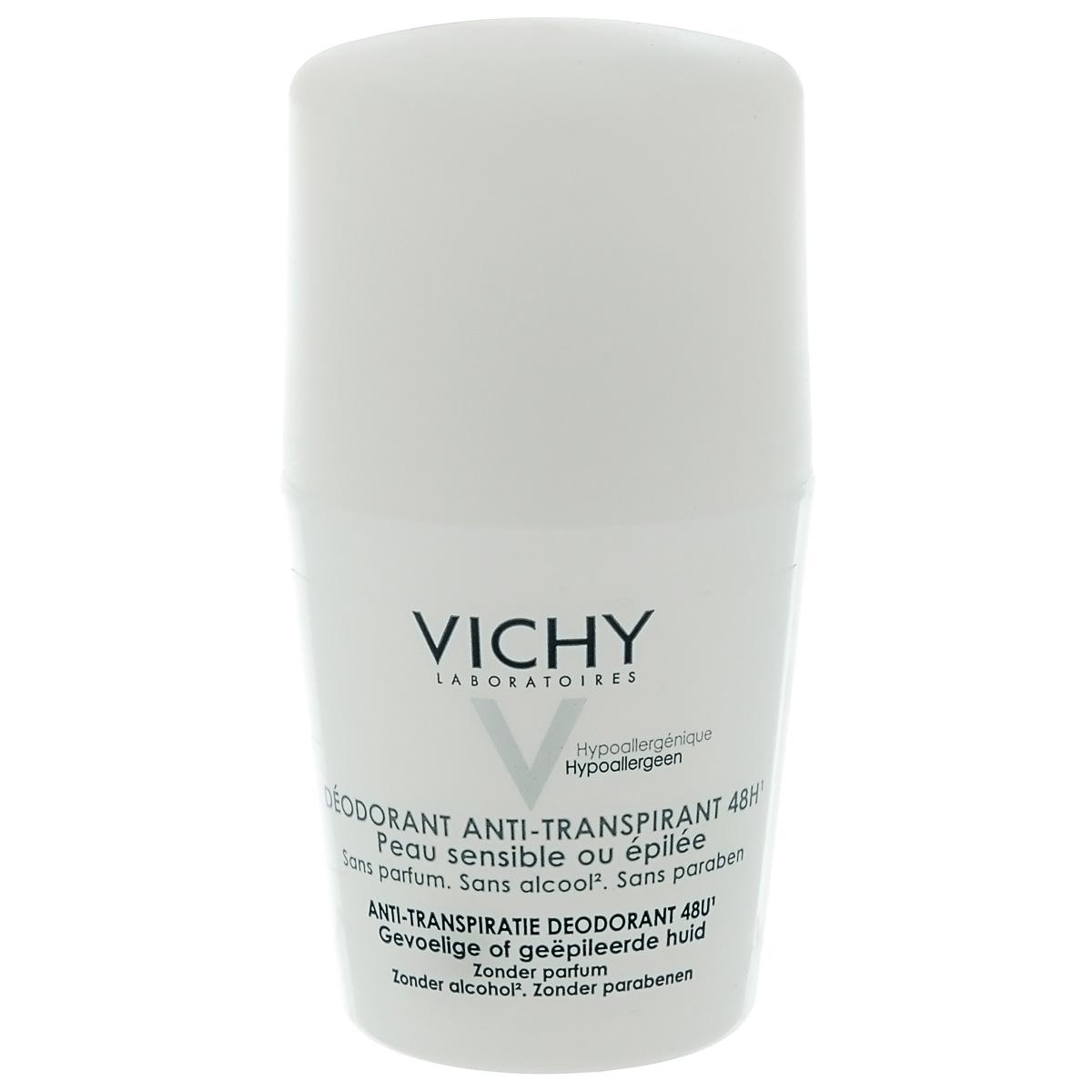 Vichy Дезодорант шариковый 48 часов, для очень чувствительной кожи, 50 мл