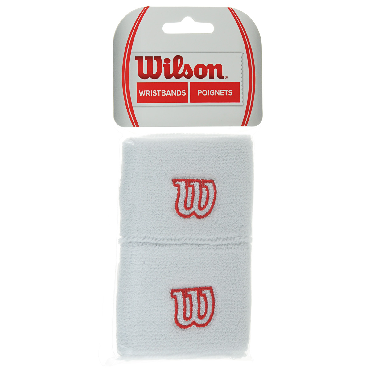 Напульсник Wilson Wristband, цвет: белый, 2 шт. Размер универсальный цена