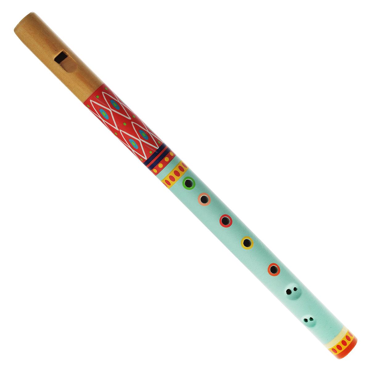 Djeco Флейта Animambo, цвет: бирюзовый, красный djeco маракас animambo