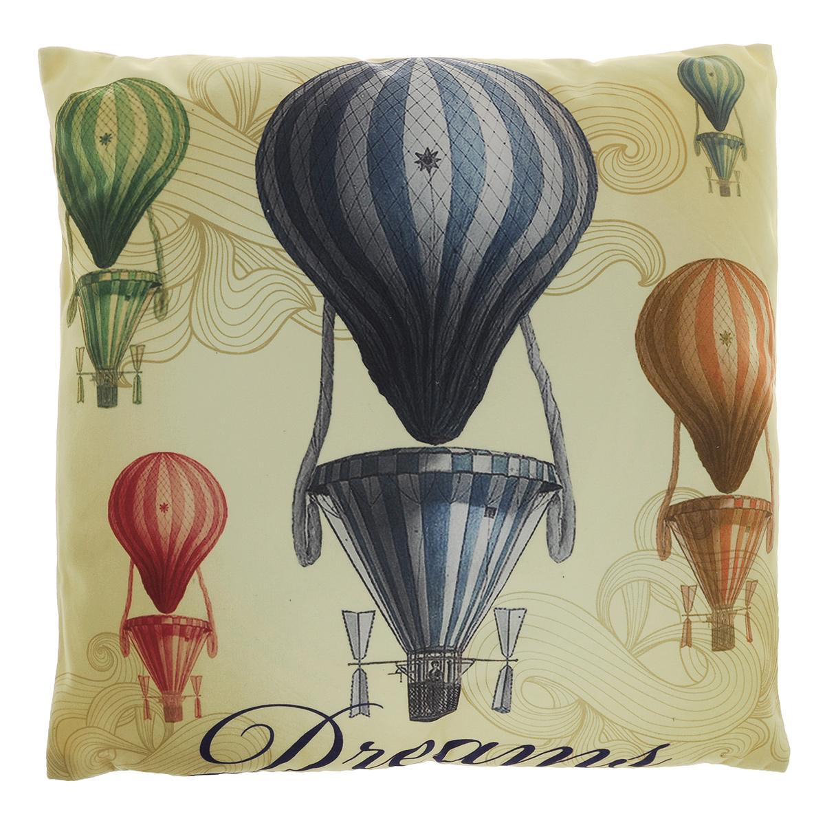Подушка декоративная Феникс-презент Воздушные шары, 45 х 45 см подушка декоративная феникс презент чеширский кот 45 см х 45 см