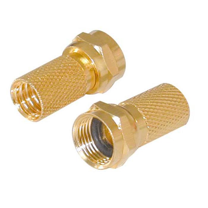 Vivanco разъем F штырь 7 мм золоченый c резиновой прокладкой, 2 шт. vivanco адаптер f штырь f штырь 2 шт