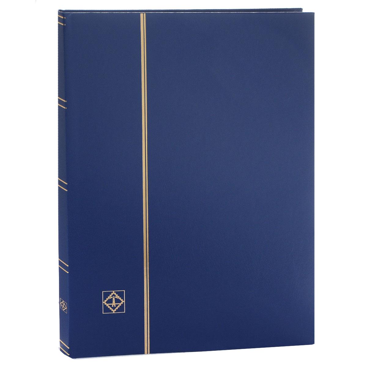 """Кляссер для марок """"Leuchtturm"""", A4, цвет: синий, 8 листов. LS 4/8"""