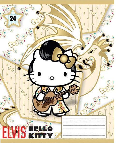 купить Hello Kitty Набор тетрадей в линейку, 24 листа, формат А5, 10 шт, цвет: золотистый по цене 171 рублей