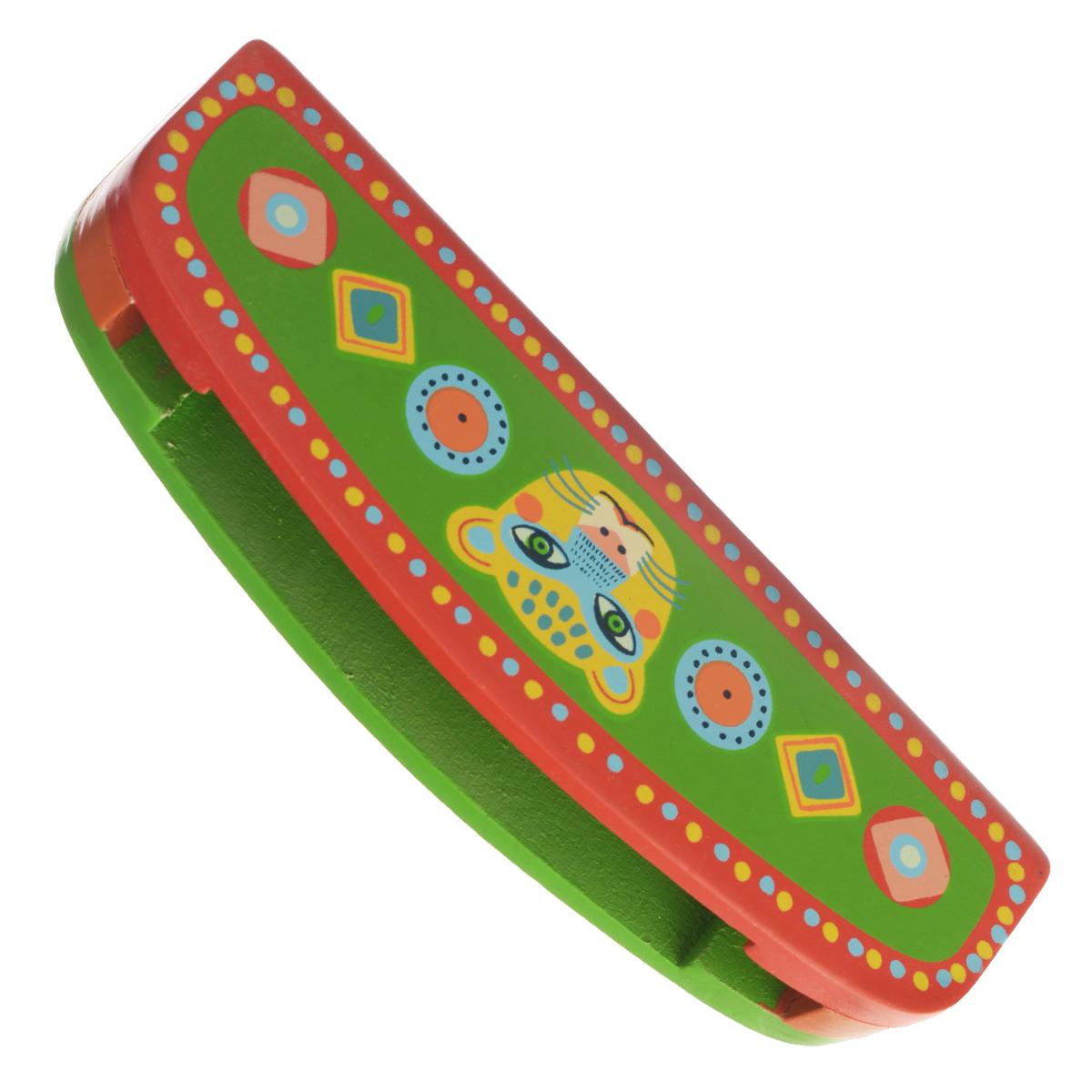 Djeco Губная гармошка Animambo, цвет: зеленый, красный djeco маракас animambo