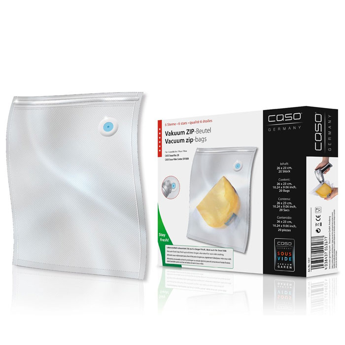CASO ZIP 26х23 пакеты для вакуумного упаковщика, 20 шт. CASO