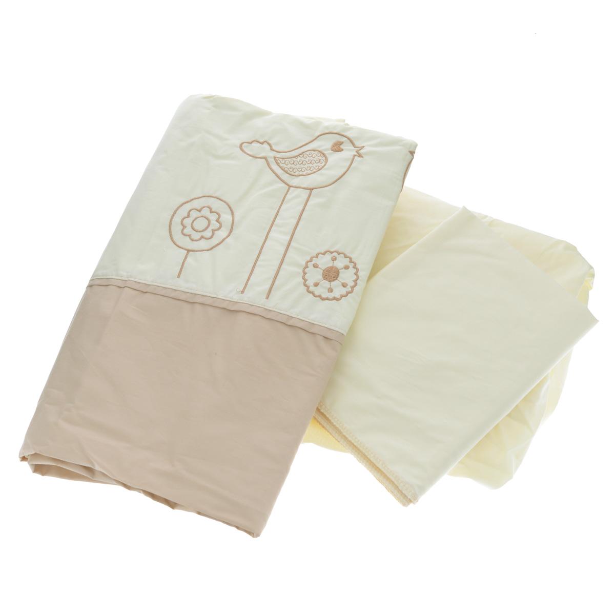 Комплект детского постельного белья Fairy Волшебная полянка, цвет: бежевый, 3 предмета fairy girls 3