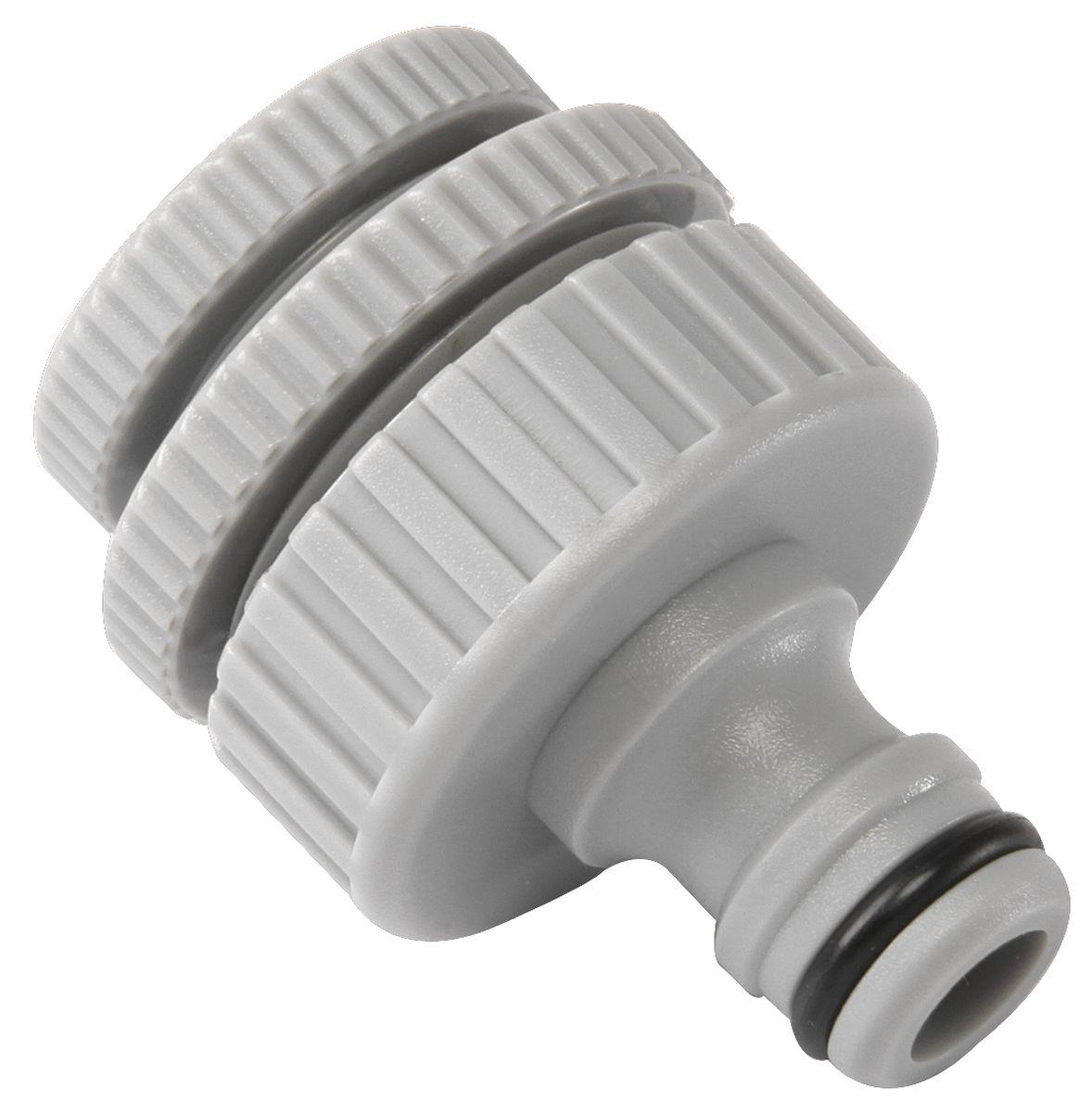 Штуцер резьбовой Green Apple, с переходниками, диаметр 12 мм - 19 мм - 25 ммGWRS12-046Резьбовой штуцер Green Apple изготовлен из высококачественного прочного ABS-пластика. Штуцер предназначен для соединения шлангов и насадок с кранами, имеющими внешнюю резьбу. В комплекте - 2 переходника разного диаметра. Диаметр: 1/2, 3/4, 1.