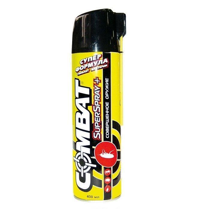Аэрозоль от насекомых Combat Super Spray Plus , 400 мл аэрозоль от насекомых combat multi spray 400 мл
