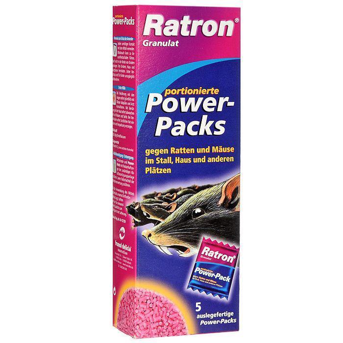 Гранулированная приманка Ratron для борьбы с крысами и мышами, 5 шт х 40 г приманка от крыс и мышей ratron 100 шт по 40 г