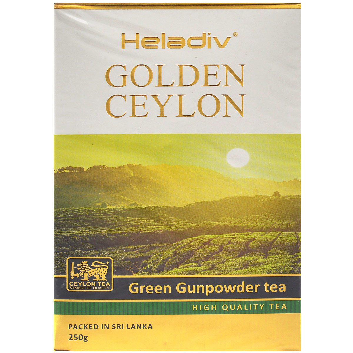 Heladiv Golden Ceylon Green Gunpowder зеленый листовой чай, 250 г цена