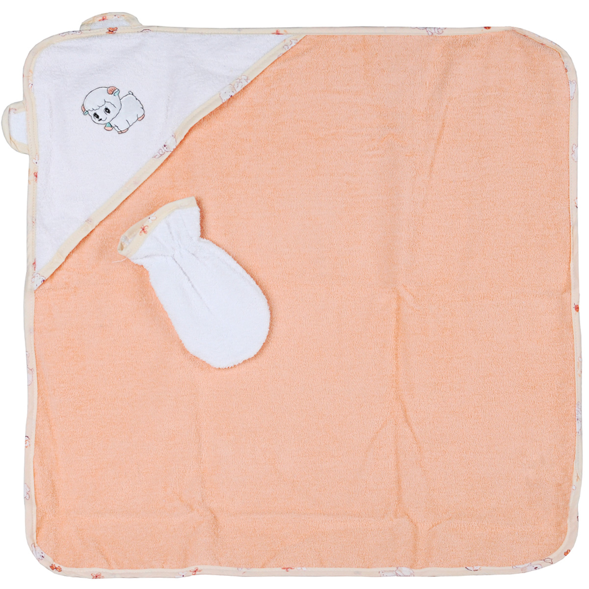Комплект для купания Фея, цвет: персиковый, 2 предмета рукавицы русский инструмент 68130 х б с брезентовым наладонником 2 размер