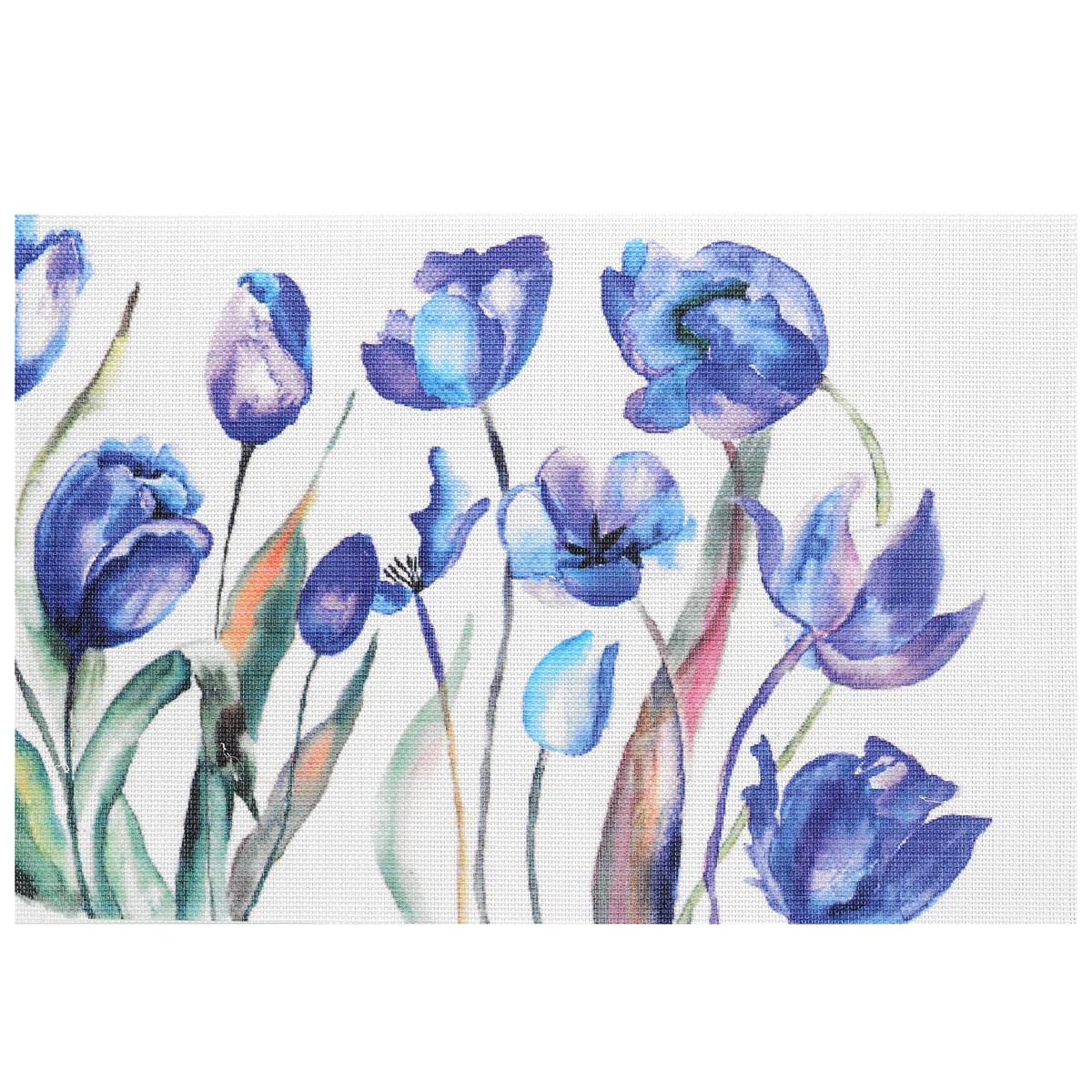 цена на Подставка под горячее Hans & Gretchen Синие цветы, 45 х 30 см. 28HZ-9013