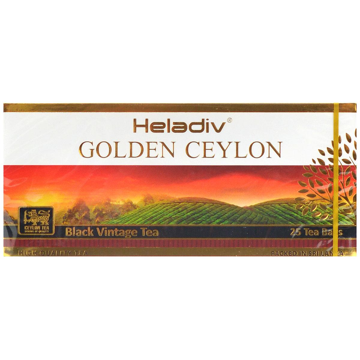 Heladiv Golden Ceylon Vintage Black черный пакетированный чай, 25 пакетиков jin июня mei golden брови уишаньский черный чай распродажа