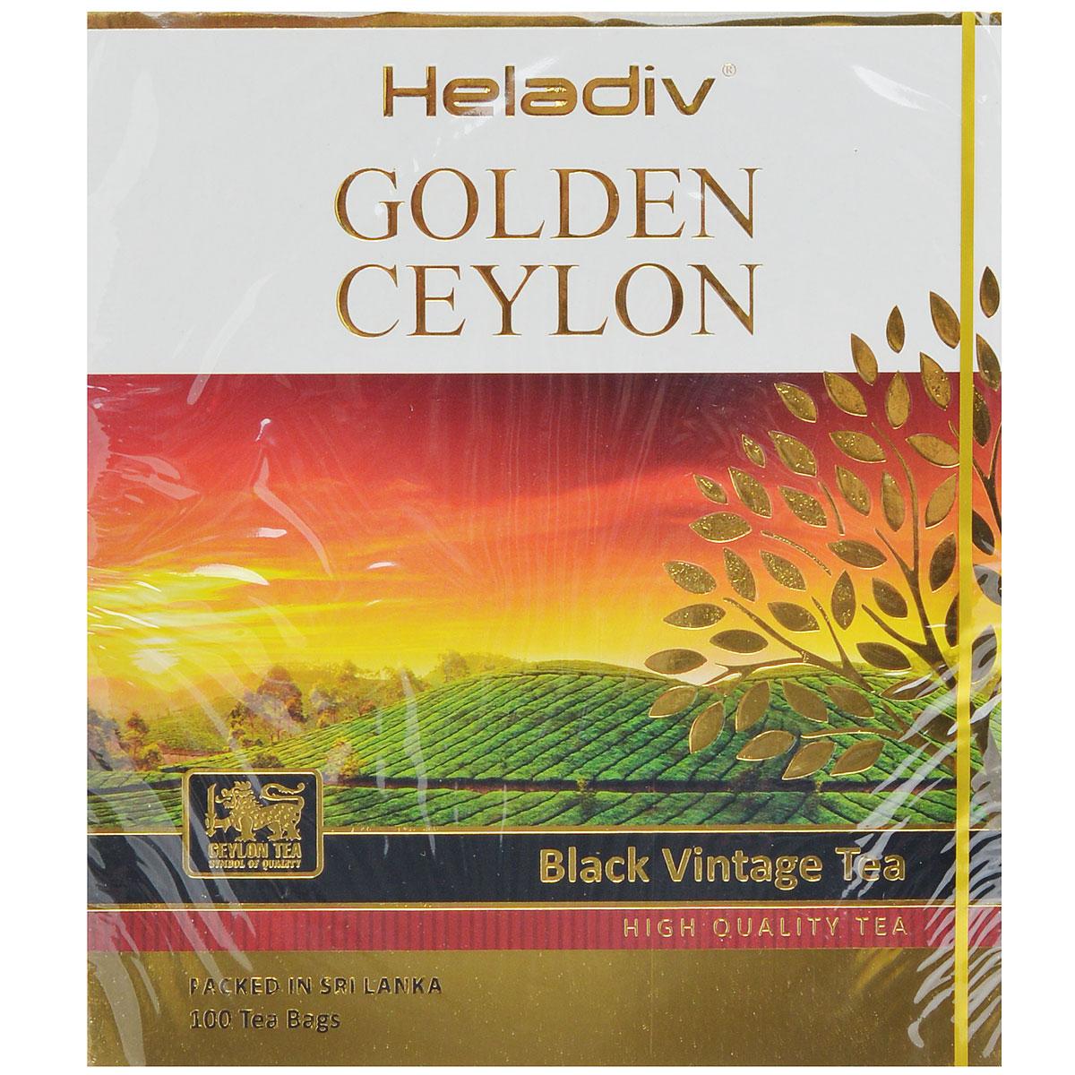Heladiv Golden Ceylon Vintage Black черный пакетированный чай, 100 пакетиков jin июня mei golden брови уишаньский черный чай распродажа