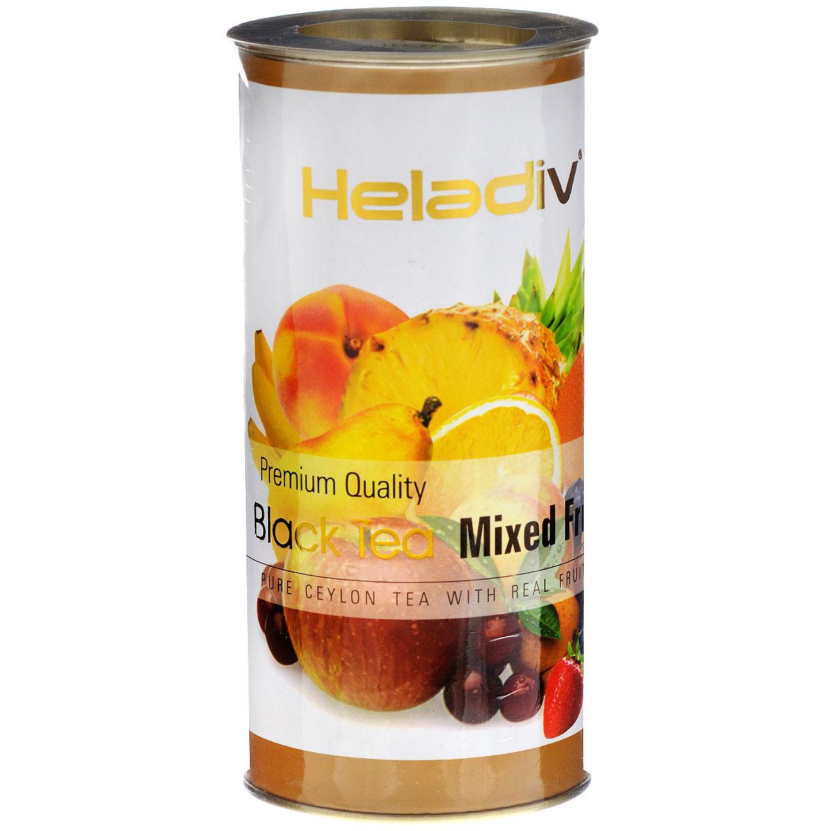 Heladiv Mixed Fruit черный фруктовый чай, 100 г цена