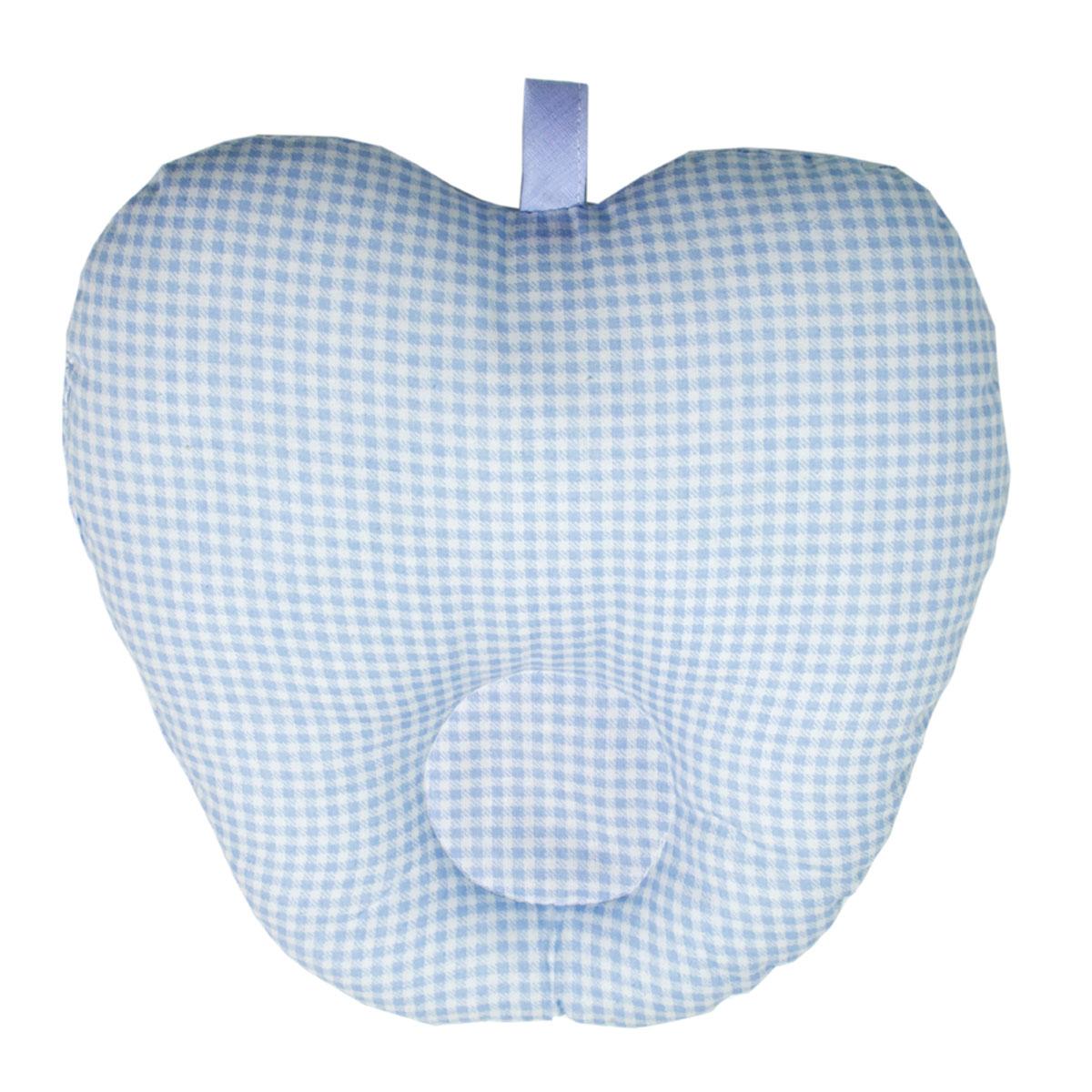 Подушка анатомическая Primavelle Apple для младенцев, цвет: голубой, 25 см х 25 см наволочка primavelle style цвет голубой 52 х 74 см