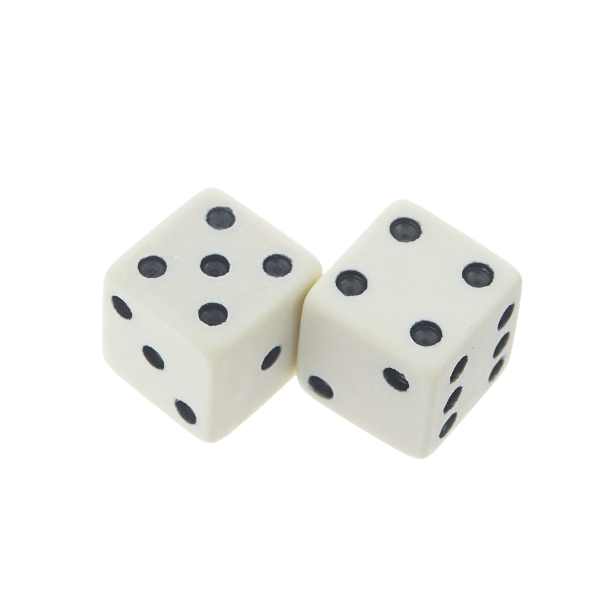 Игральные кости Компания Игра Кости игральные , цвет: белый, размер:1 см, 2 шт. К10-1