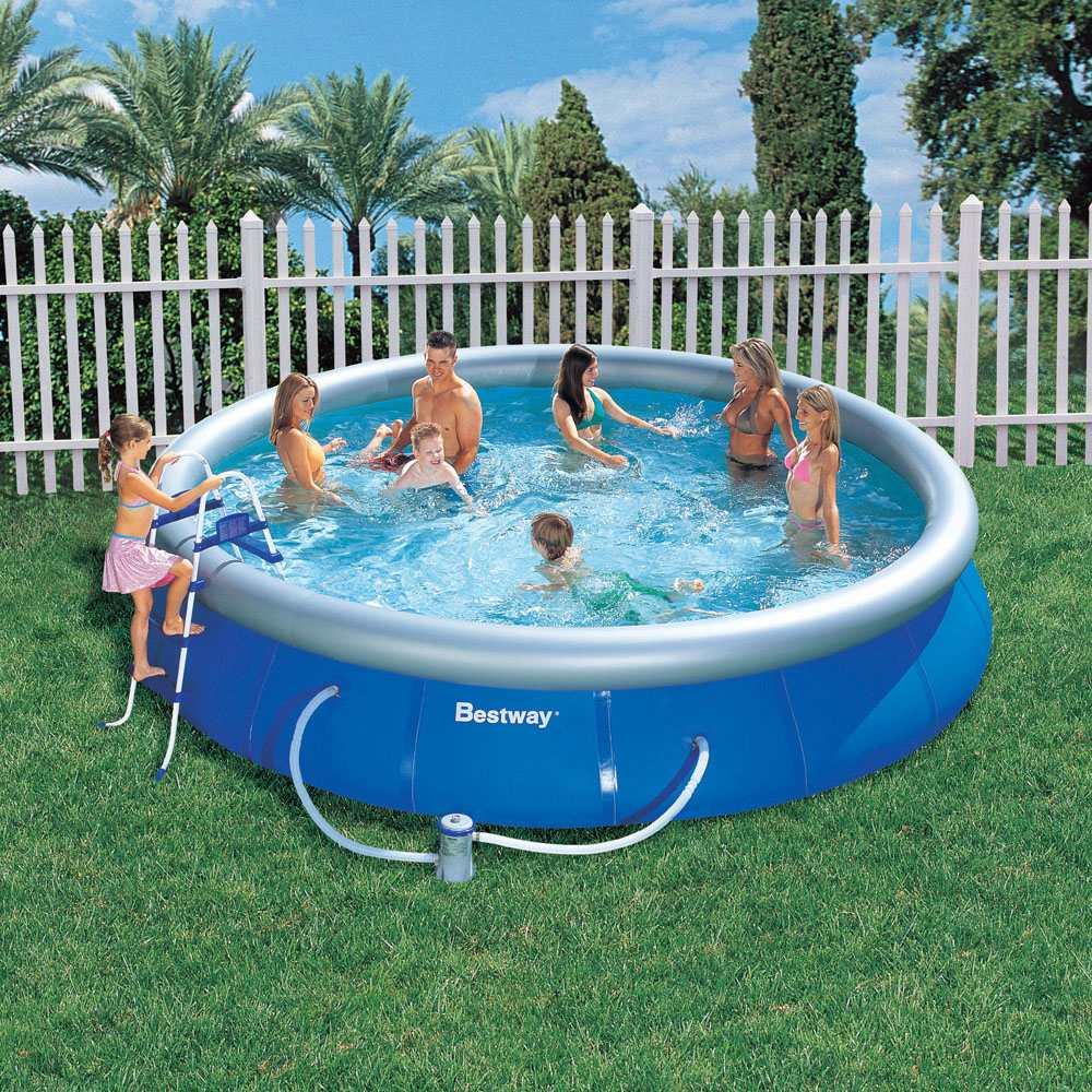 Надувной бассейн Bestway 57124, 457х91 см цены