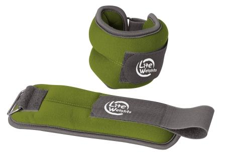 Утяжелители Lite Weights для рук и ног, цвет: зеленый, 2 шт х 0,5 кг утяжелители кистевые lite weights 0 5 кг х 2 шт