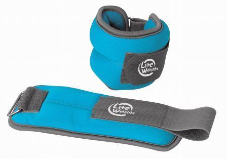 Утяжелители Lite Weights для рук и ног, цвет: голубой, 2 шт х 1 кг утяжелители кистевые lite weights 0 5 кг х 2 шт