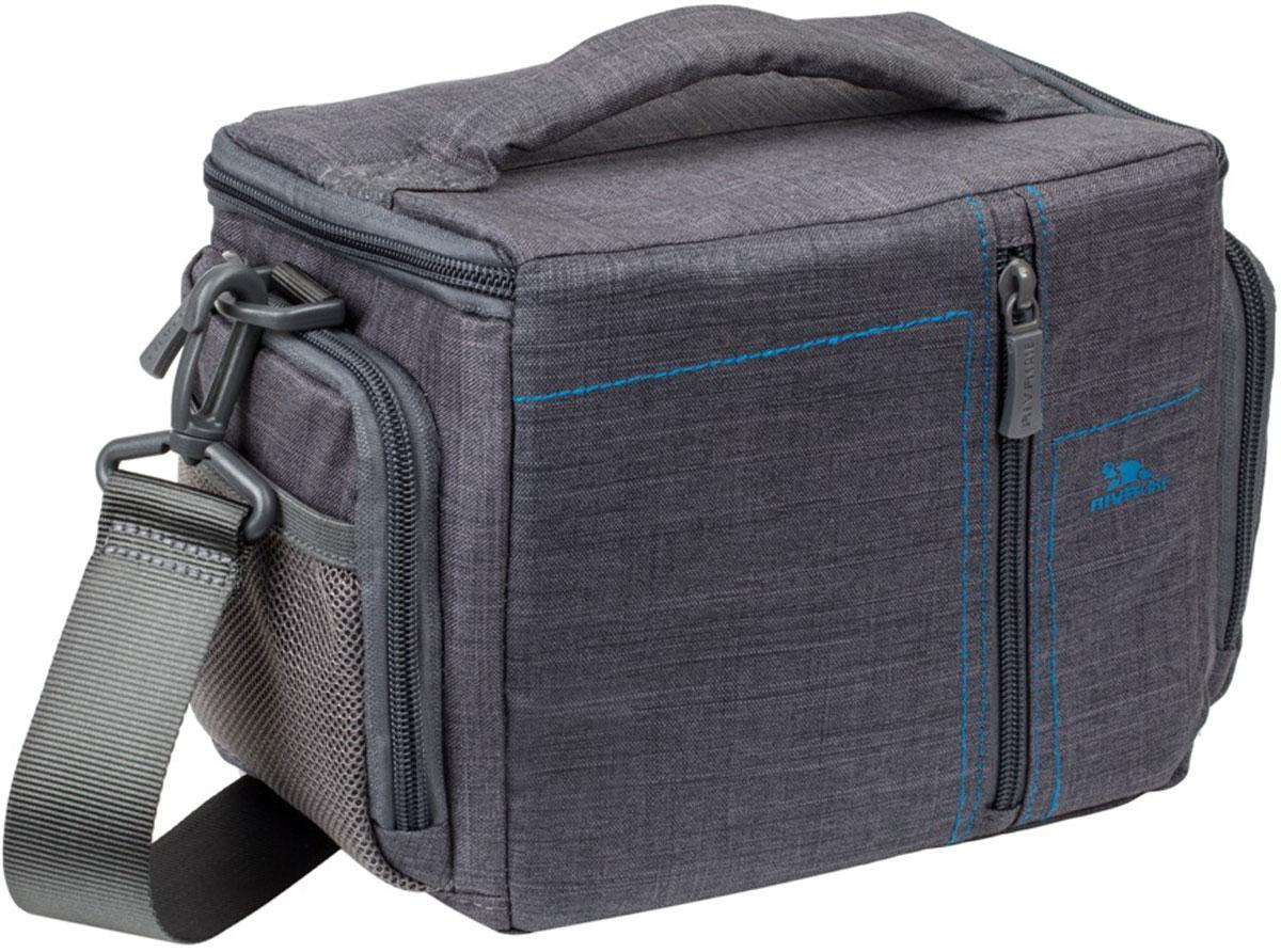 RIVACASE 7502 SLR Canvas Case, Grey сумка для зеркальной фотокамеры rivacase 7630 slr case pro black сумка для зеркальной фотокамеры