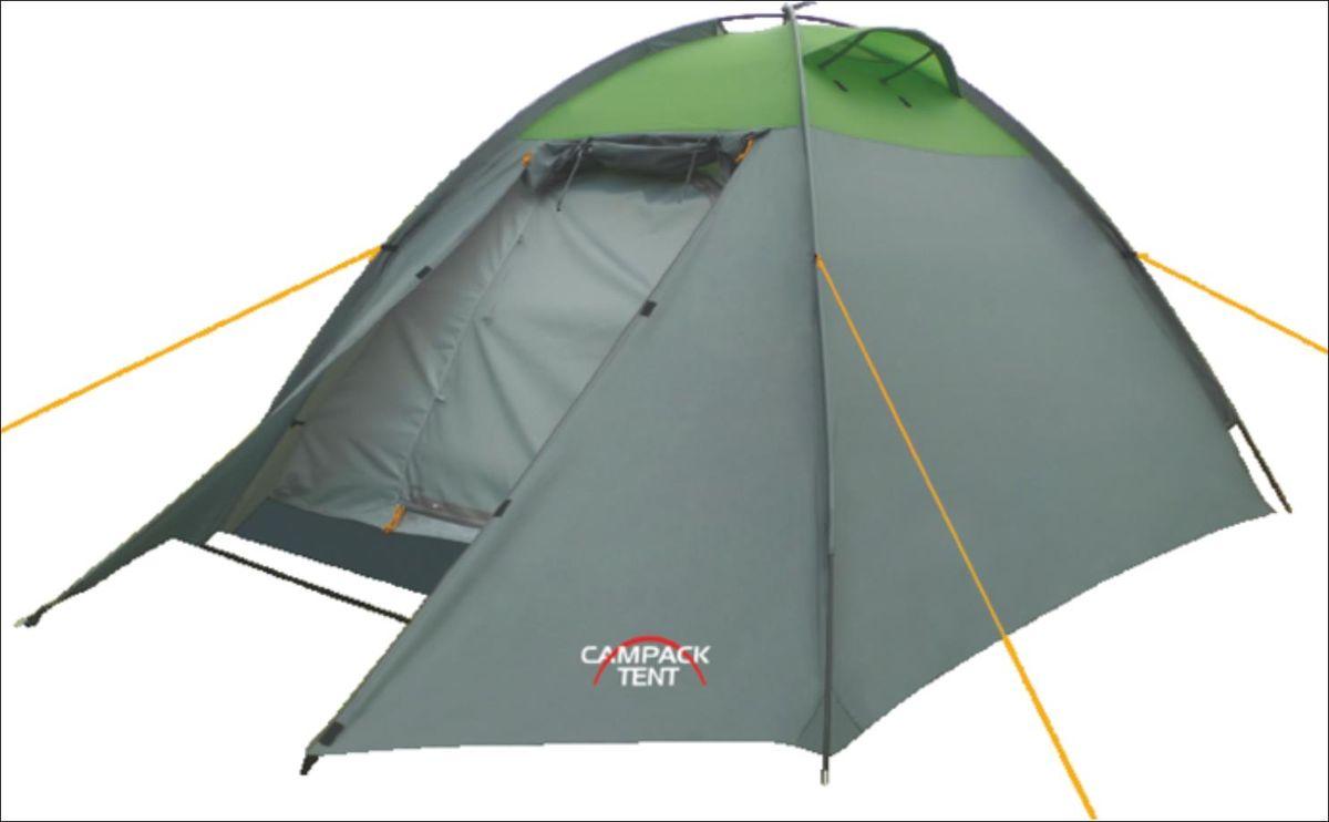 Палатка Campack Tent Rock Explorer 2, цвет: серо-зеленый