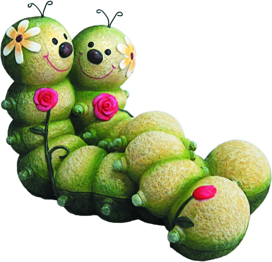 Фигурка садовая Green Apple Гусеницы, 31 х 19 х 21 см фонтан садовый декоративный green apple кувшин 53 х 33 х 51 см