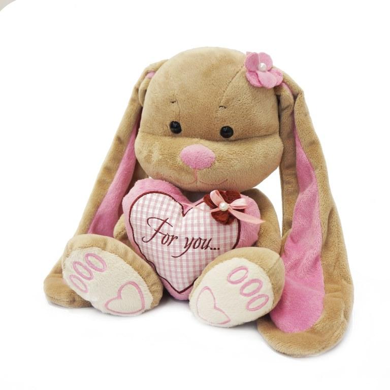 Jack & Lin Мягкая игрушка Зайка Лин с сердцем 25 см лин жак техника шитья выкройки модели и детальные чертежи