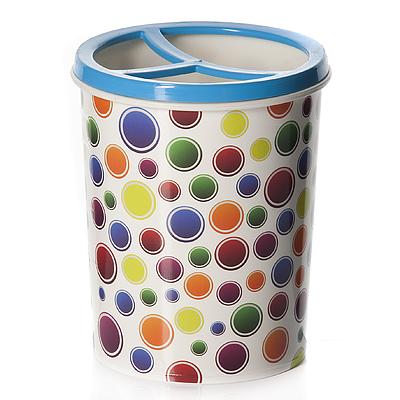 Подставка для карандашей Альтернатива Конфетти, цвет: белый, мультиколор, 0,7 л, высота 12,5 см ящики для игрушек альтернатива башпласт контейнер лапландия 7 л