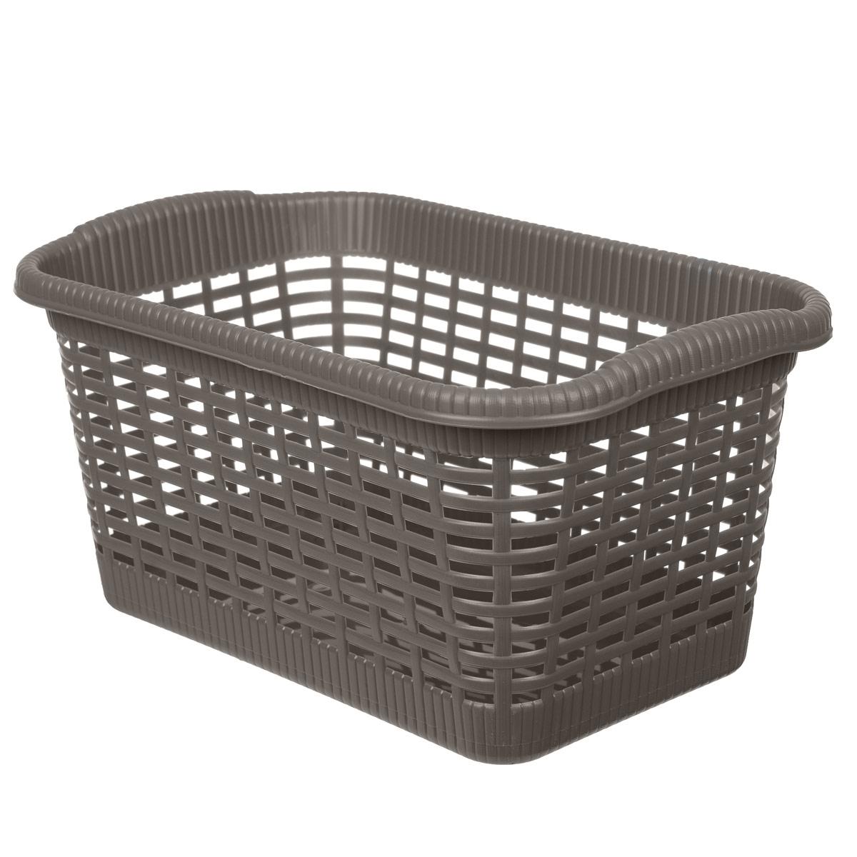 Корзина хозяйственная Gensini, цвет: коричневый, 36 x 22,5 x 18 см корзина складная outwell folding basket цвет зеленый 50 x 29 x 25 см