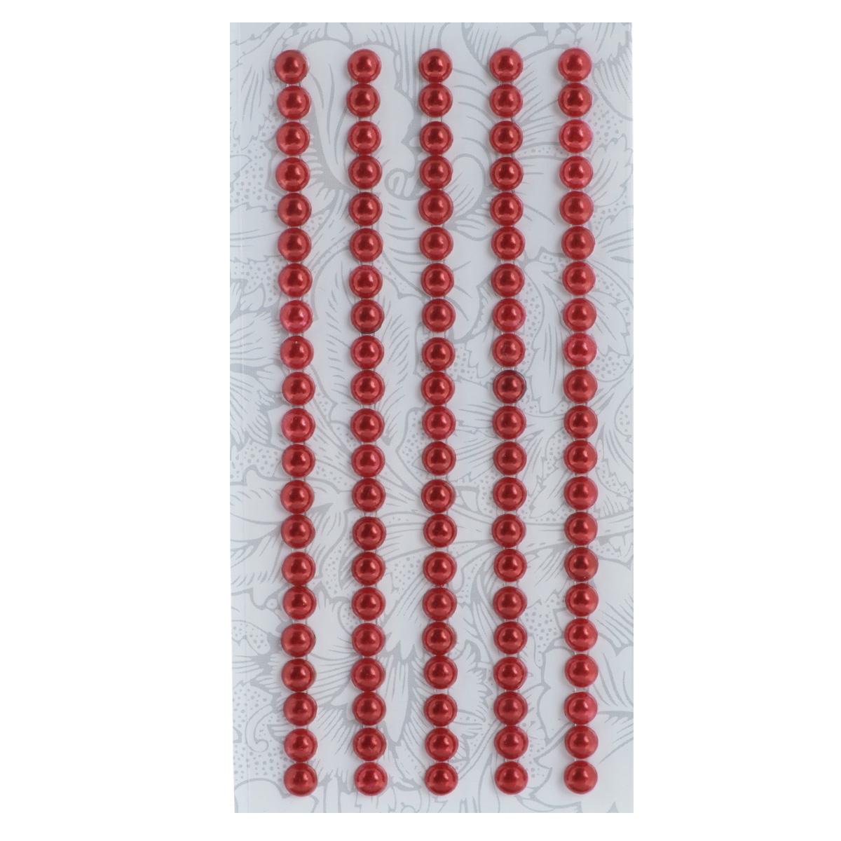 Наклейки декоративные Астра, цвет: красный (1), диаметр 5 мм, 105 шт наклейки декоративные астра 2 шт 7708401