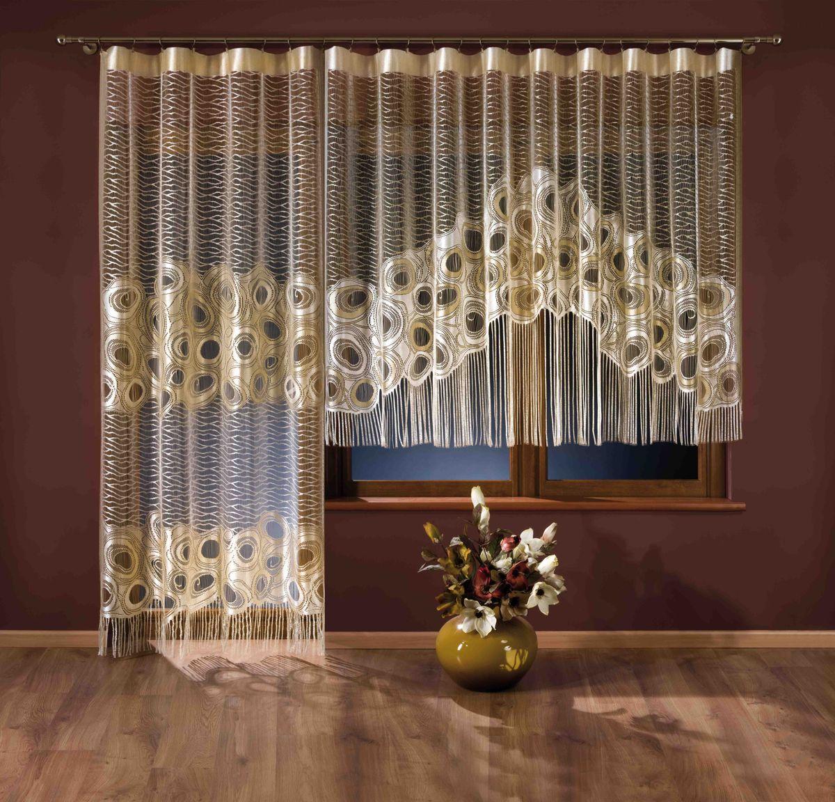 Комплект штор Wisan, цвет: кремовый, высота 300, 150 см комплект штор wisan цвет коричневый высота 250 см 030w