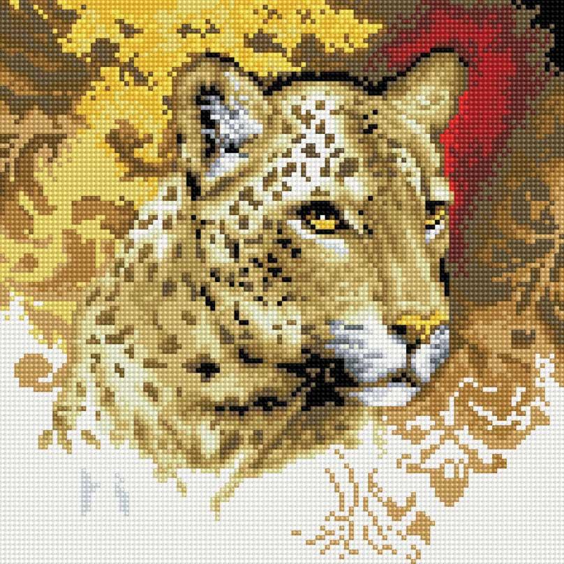 Набор для творчества Алмазная мозаика. Портрет леопарда, 30 см х 30 см34987Набор для творчества Алмазная мозаика. Портрет леопарда поможет вам создать свой личный шедевр - красивую картину, выполненную в мозаичной технике. Каждый камушек выполнен из прочного материала и огранен по типу драгоценных камней. При попадании на грани солнечного или искусственного света образуется мерцающее полотно. Мозаичные картины - это новый вид творчества, который поможет создать прекрасное украшение для вашего дома. В наборе имеется холст с нанесенной схемой. С помощью пинцета стразы размещаются на холст. В результате проявляется рисунок. Для создания картины нужно лишь выложить мозаику по схеме. Вы получите огромное наслаждение от творчества. В набор входит: - основа картины - холст на подрамнике, - комплект круглых искусственных камней, диаметр 2,5 мм, 23 цвета, - пинцет, - пластмассовый лоток для камней, - пластмассовый карандаш для камней, - жидкий клей.