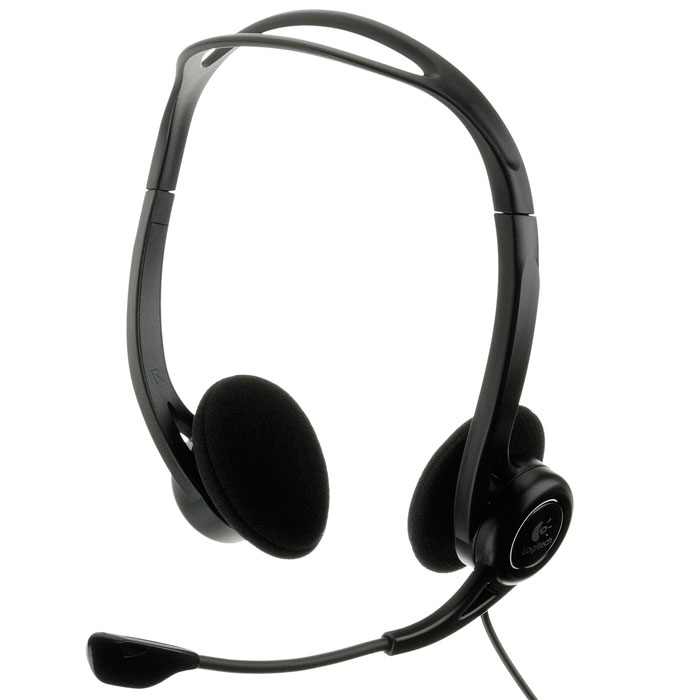 Компьютерная гарнитура Logitech PC Headset 960 USB (981-000100) Уцененный товар (№8)