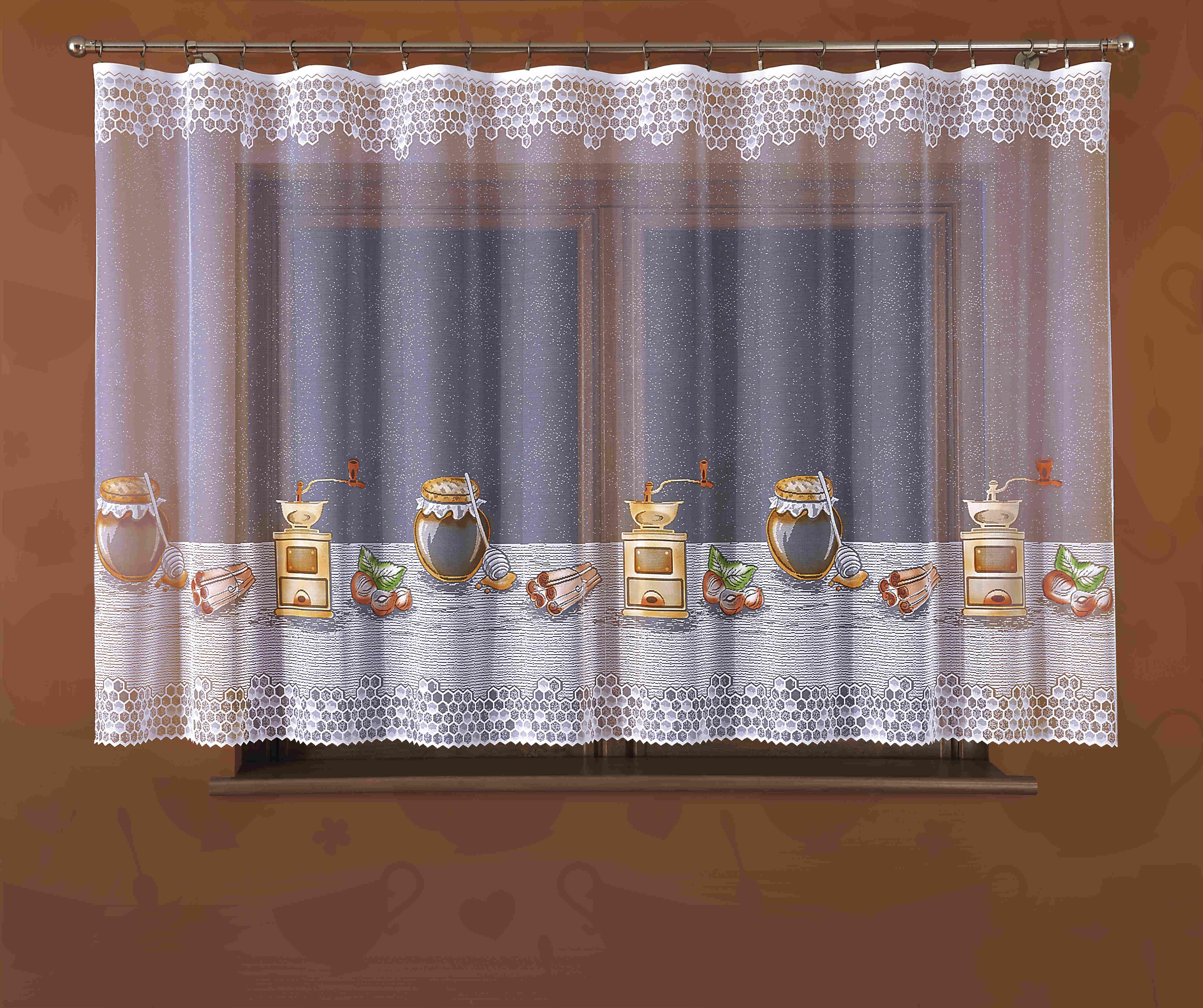 Гардина Wisan, на зажимах, цвет: белый, высота 150 см. 339Е