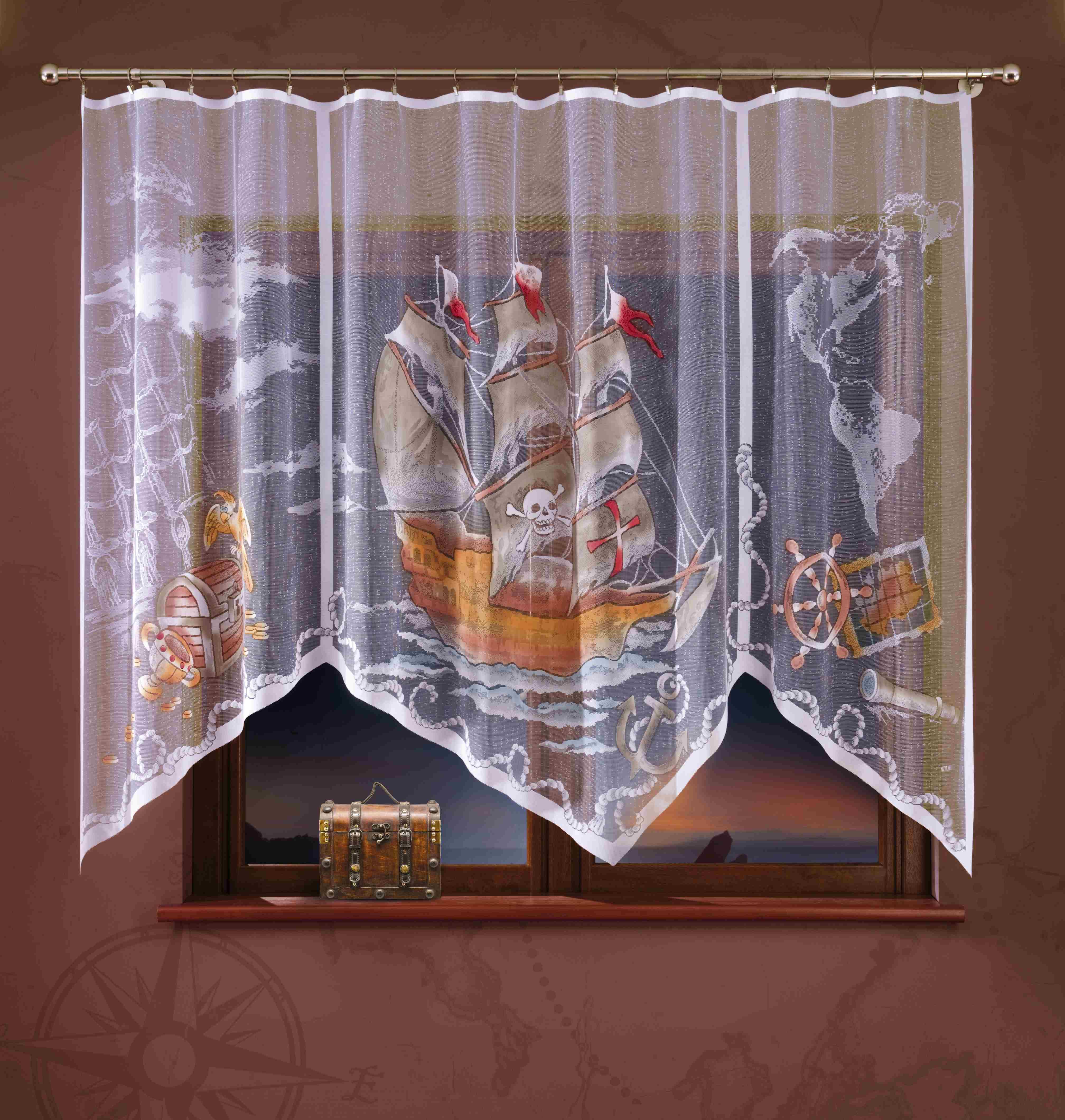 Гардина Wisan, на ленте, цвет: белый, коричневый, высота 180 см. 722А гардина wisan 040w