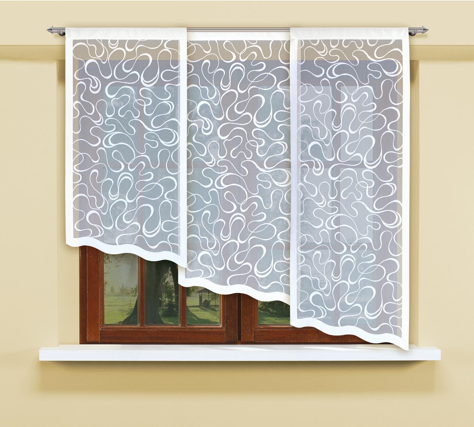 Комплект гардин Haft, на кулиске, цвет: белый, 3 шт. 207750 комплект гардин панно haft шторы светлые page 10
