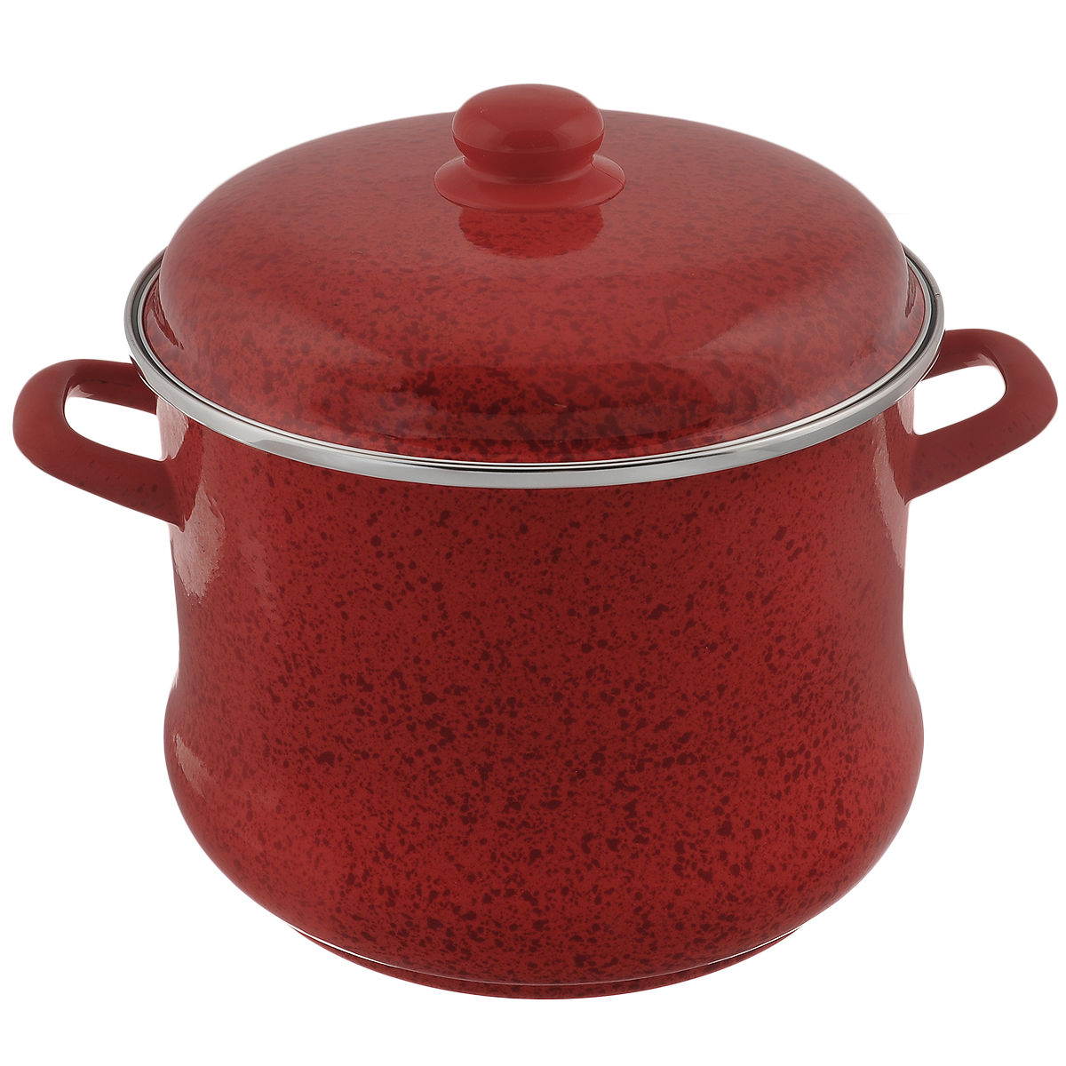цена на Кастрюля эмалированная Мetrot Рубин, с крышкой, цвет: красный, 9 л