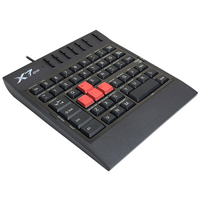 Игровая клавиатура A4Tech X7-G100, Black игровой блок цена