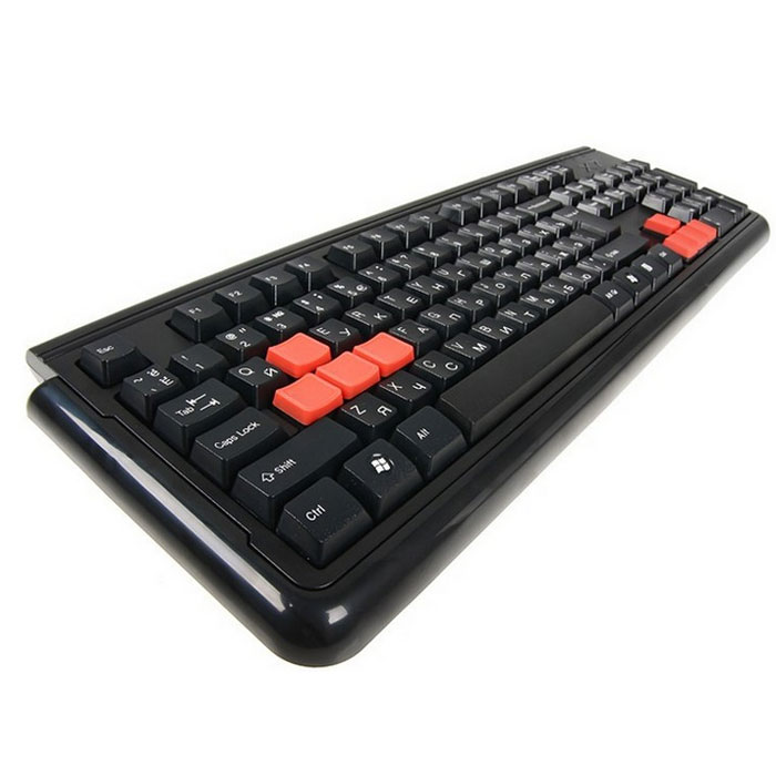 Игровая клавиатура A4Tech X7-G300 PS/2, Black клавиатура a4tech x7 g700 black ps 2