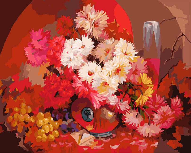 Живопись на холсте Бархатный букет, 40 х 50 см живопись на холсте букет маков 40 см х 50 см