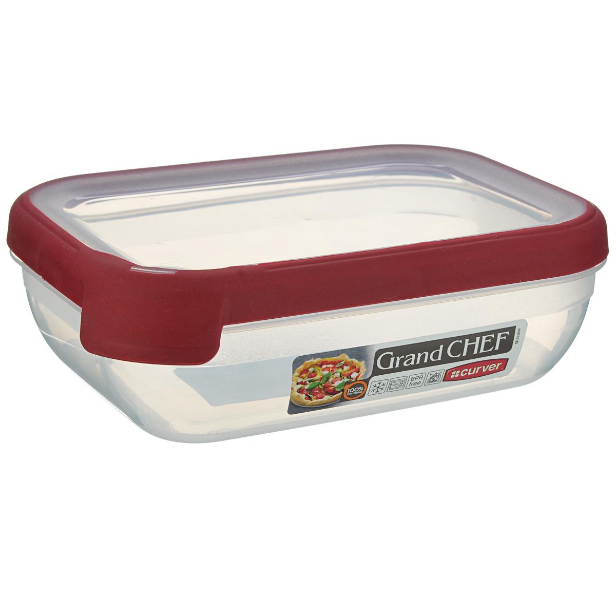 """Емкость для заморозки и СВЧ Curver """"Grand Chef"""", цвет: бордовый, 1,2 л"""