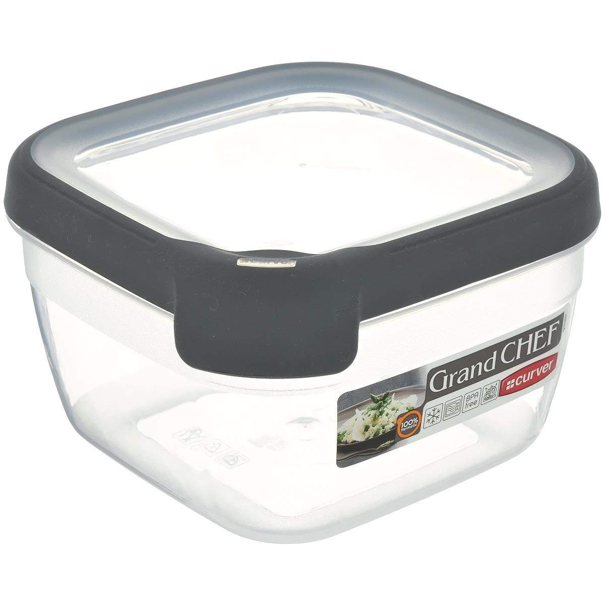 """Емкость для заморозки и СВЧ Curver """"Grand Chef"""", цвет: серый, 1,2 л. 00014-673-00"""