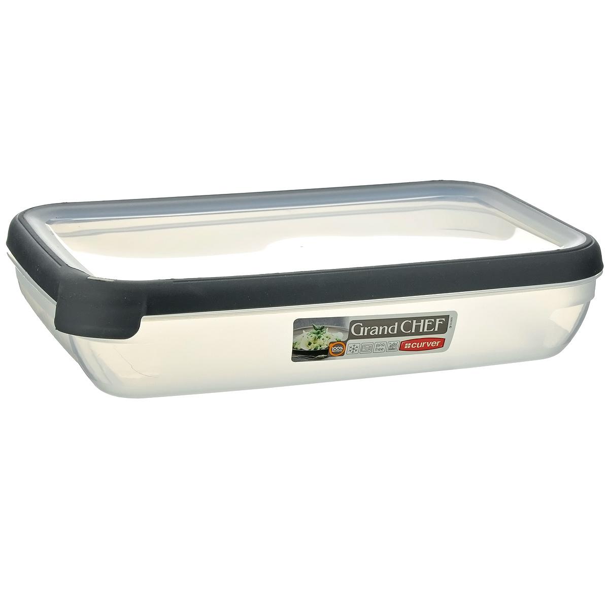 Емкость для заморозки и СВЧ Curver Grand Chef, цвет: серый, 2,6 л контейнер для продуктов curver grand chef 2 6 л серая крышка